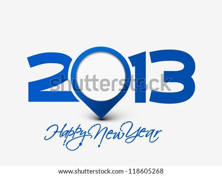 Happy new year 2013, design. - stock vector