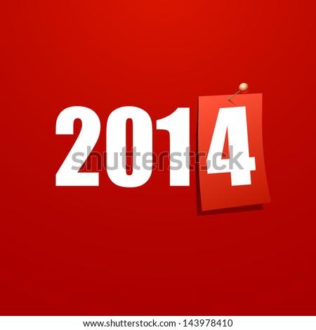 Happy New Year 2014 design card vector