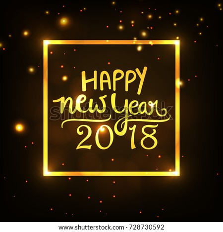 Happy New Year, Easy to Edit, Vector Illustration, New Year Background. #728730592