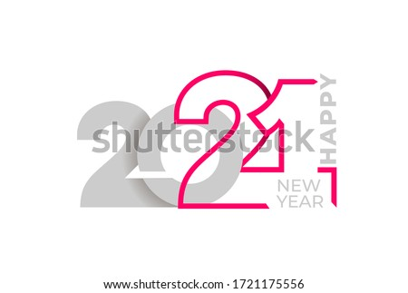 Happy New Year elegant design of colored 2021 logo numbers. Typography for 2021 save the date luxury designs and new year celebration invite. Isolated on white background. Vector illustration.