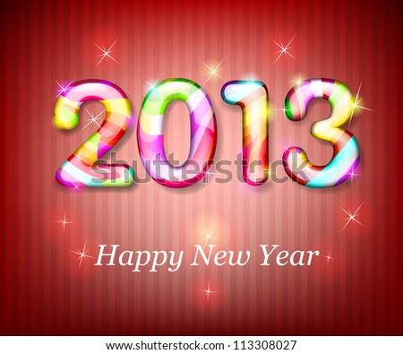 Happy New Year 2013. EPS10 - stock vector