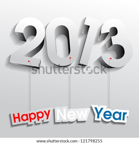 Happy New Year 2013 eps10