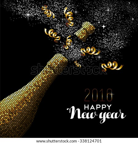 happy new year 2016 fancy gold