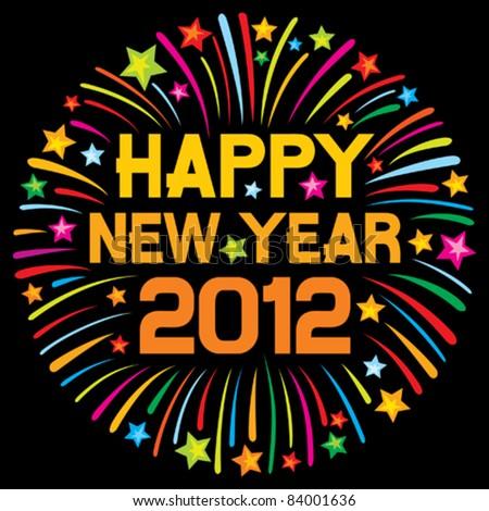 happy new year 2012  firework