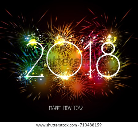 Colorful happy new year 2019 - Download Free Vector Art, Stock ...