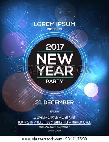 happy new year 2017 flyer