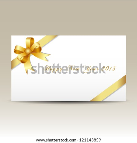 Happy new year 2013 gift card