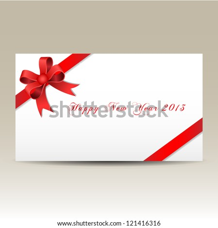 Happy new year 2013 gift card red