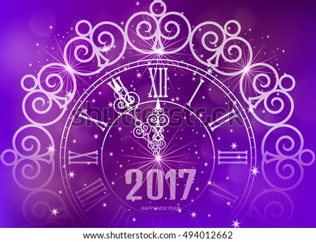happy new year 2017 gold watch