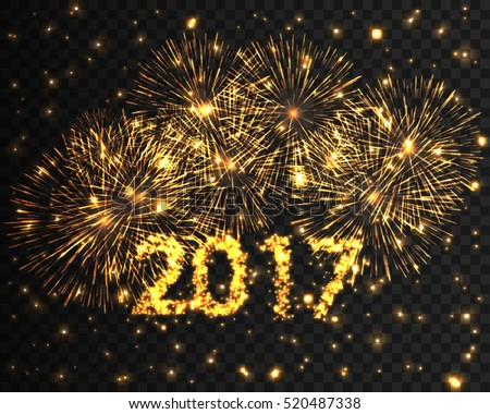 happy new year 2017 golden