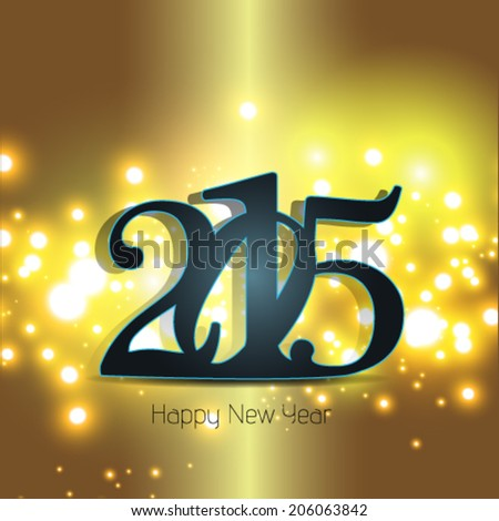 Happy new year 2015, greeting card design.  #206063842