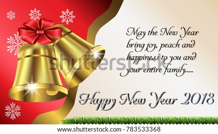 Holiday greetings e card vector download free vector art stock happy new year 2018 greeting card e card postcard banner poster m4hsunfo