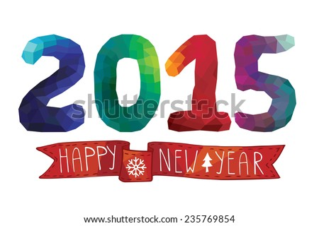 Happy new year lettering greeting card vector illustration happy new year greeting cardinvitationbanner letteringcatchwordsiangles m4hsunfo