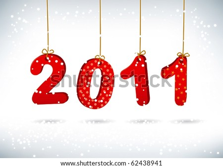 stock vector : Happy New Year 2011 greeting card.