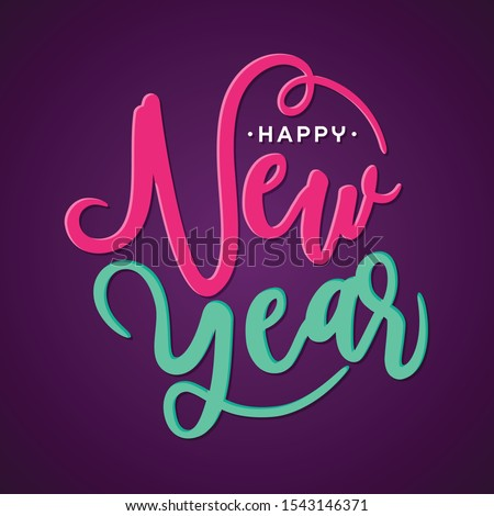 Happy New Year greeting card or background letter. Vector letter Happy New Year for element design. Vector illustration EPS.8 EPS.10