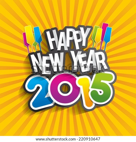 Happy new year 2015 greeting card vector illustration ez canvas happy new year 2015 greeting card vector illustration m4hsunfo
