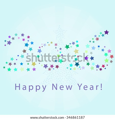 Happy New Year 2016 Greeting Card Vector illustration  #346861187