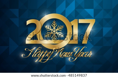 happy new 2017 year greeting card vector illustrationwallpaper