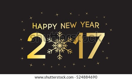 Happy New 2017 Year greeting card. Vector illustration.Wallpaper. #524884690