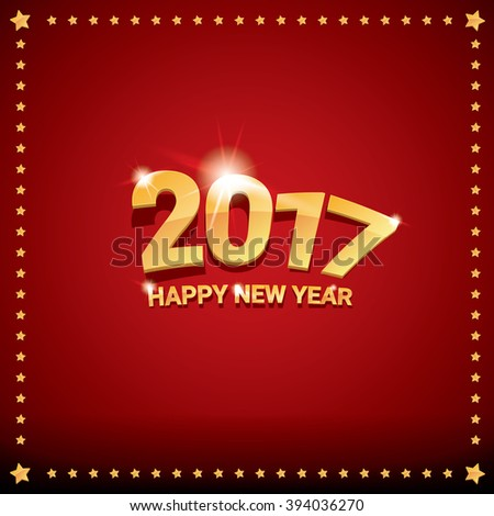 happy new year 2017 happy chinese new year 2017 on creative red background