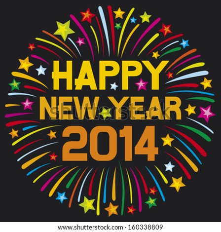 happy new year 2014 happy new year firework 2014 happy new year greeting card or background