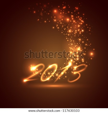happy new year 2013. holiday background (2014 in portfolio)