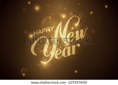 happy new year holiday vector