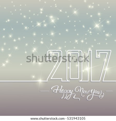 Happy New 2017 Year. Holiday Vector Illustration With Lettering #531943105