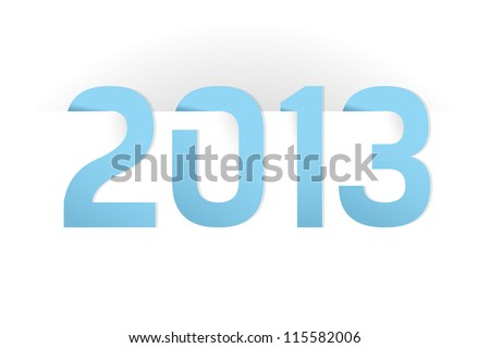 Happy New Year 2013 illustration on white