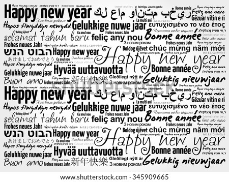 Happy New Year Languages - Download Free Vector Art, Stock Graphics ...