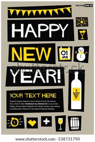 happy new year  01 jan  flat