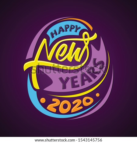 Happy New Year 2020 letter for greeting card or background. Vector letter Happy New Year for element design. Vector illustration EPS.8 EPS.10
