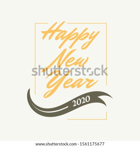Happy New Year letter vintage style background.  january 1 holiday background.  greeting card design for celebrating new year moments Vector illustration EPS.8 EPS.10
