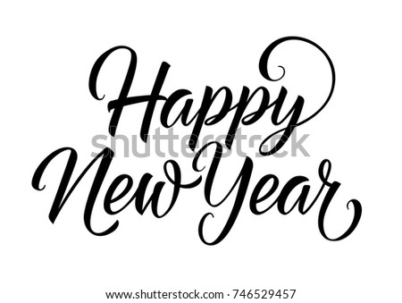 Happy New Year Lettering | EZ Canvas