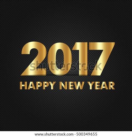 Happy New Year Logo Vector Design #500349655