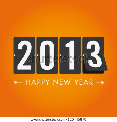 Happy new year 2013 mechanical timetable in movement