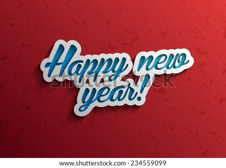happy new year modern