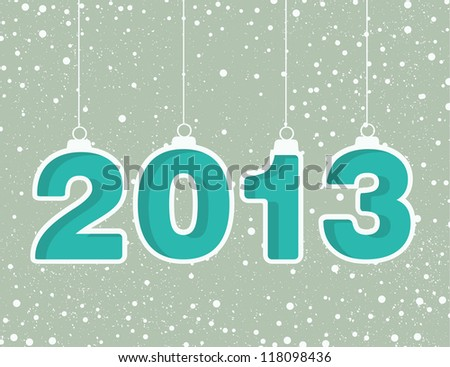 Happy new year 2013! New year design template