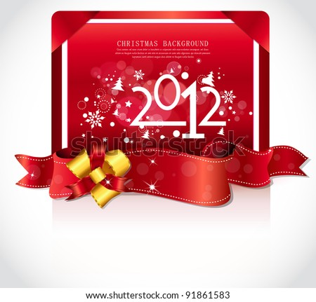 Happy new year 2012! New year design template.
