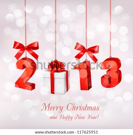 Happy new year 2013  New year design template  Vector illustration