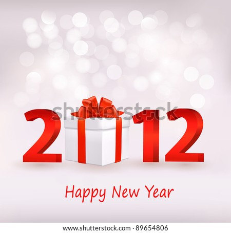 Happy new year 2012! New year design template. Vector illustration.