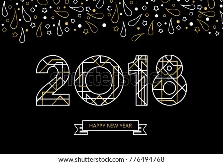 happy new year 2018 number
