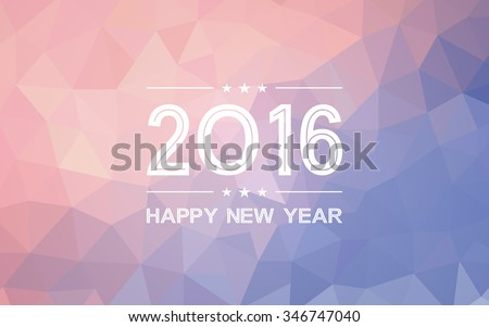 happy new year 2016 on gradient