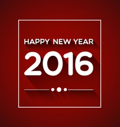 Happy New Year 2016 on Red Background