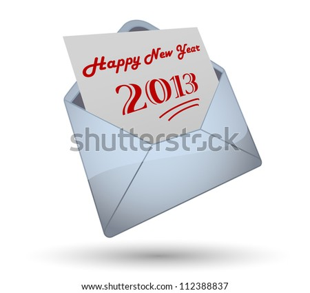 Happy New Year 2013 Opening Envelope
