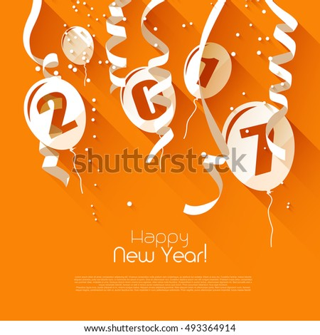 happy new year 2017   orange