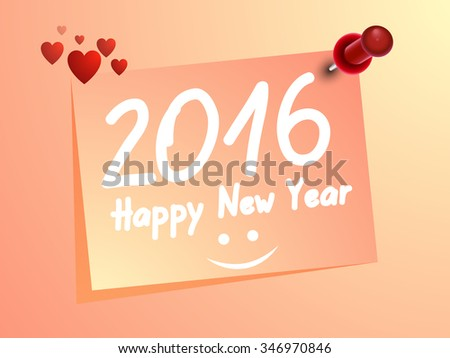 Happy New Year Ping with welcome Heart 2016 Eps10. #346970846