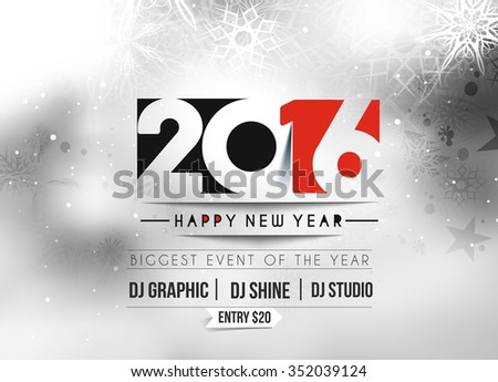 abstract music flyer template for new year celebration - Download ...