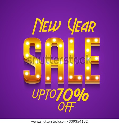 happy new year 2016 sale banner
