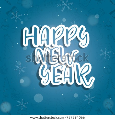 Happy new year sale sign banner card #757594066